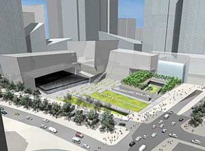 Finalist design for WTC memorial